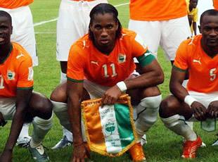 Les joueurs, porte-drapeaux de l'Afrique