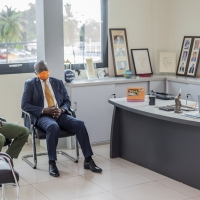 Général Ali Dem (Conseiller du Président) - Fétigué Ouattara (Vice-président FIBB) - Mahama Coulibaly (Président FIBB)